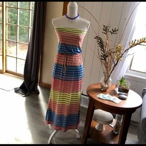 Dresses & Skirts - Gorgeous Long Stripped Dress Small